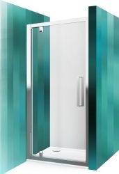 Roltechnik ECDO1N/1100 nyíló zuhanyajtó / 110x205 cm-es / fekete ezüst profillal / transparent üveggel / EXCLUSIVE LINE
