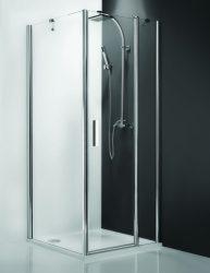 Roltechnik Tower Line TBP/1000 oldalfal, szögletes zuhanykabinhoz / jobbos / 100x200 cm-es / ezüst profillal / intima üveggel / TOWER LINE