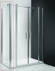 Roltechnik UB/1000 oldalfal / 100x200 cm-es / ezüst profillal / transparent üveggel / TOWER LINE