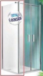 Roltechnik TCB/800 fix oldalfal zuhanykabinhoz / 80x200 cm-es / ezüst profillal / transparent üveggel / TOWER LINE
