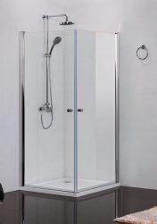 Sanotechnik Elegance N1280 szögletes sarokkabin / zuhanykabin, 2 lengőajtóval, 80x80x195 cm / F544