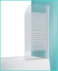 Roltechnik SCREEN Pro két oldalra nyíló kádparaván / Fehér profillal / Transparent (átlátszó) üveggel + minta / balos-jobbos kivitel, 750x1300 mm, 75 cm-es, 4000222