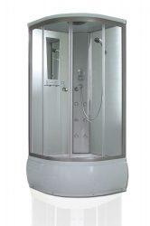 Roltechnik OSLO DEEP komplex üveg-kivitelezésű kabin / 90×90×215 cm / ezüst profillal / transparent (átlátszó) üveggel / cikkszám: 4000237 / Sanipro