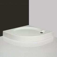 Roltechnik DREAM-P 900 Íves, önhordó, akril zuhanytálca Greensir merevítéssel / 90x90x12,5 cm-es / cikkszám: 8000030