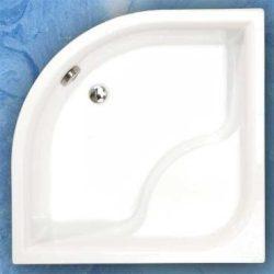 Roltechnik VIKI LUX/800, 80x80 cm-es íves zuhanytálca / mélyített / cikkszám: 8000047 / Sanipro