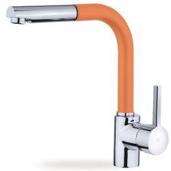 TEKA Ark 938 FA álló mosogató csaptelep, kihúzható zuhanyfejjel, narancssárga színű, 23.938.12.0FA / 23938120FA