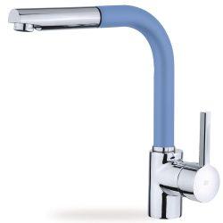 TEKA Ark 938 FB álló mosogató csaptelep, kihúzható zuhanyfejjel, kék színű, 23.938.12.0FB / 23938120FB