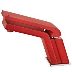 TEKA Icon mosdó csaptelep Cascade kifolyócsővel, vízkőmentes perlátor, ujjlenyomatmentes és fluoreszkáló felület, piros 33.346.02.0R / 33346020R