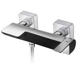 TEKA Formentera zuhany csaptelep, zajcsökkentő elemek, festett felület, fekete-króm, 62.231.02.0NC / 62231020NC