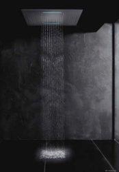 TEKA Spa beépíthető színterápiás, multifunkciós szögletes zuhanyfej, LED világítással, vízálló távirányítóval, vízkőmentes, rozsdamentes acél 79.006.75.00 / 790067500