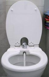 TOILETTE NETT bidé / bidével kombinált WC-ülőke, poliészter-műgyanta kivitel, sima tetővel, fehér színű, 120S típus