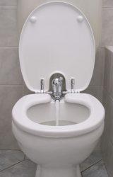 TOILETTE NETT bidé / bidével kombinált WC-ülőke, ANTIBAKTERIÁLIS, duroplast műanyag kivitel, fehér színű, 520T típus, elsősorban monoblokkos wc csészékhez