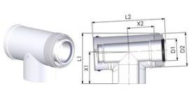 Tricox PAET50C PPs/Alu ellenőrző T-idom 60/100mm
