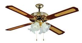 VENTS Mennyezeti / plafon ventilátor, 4 lapát, 4 lámpa, világos réz SHD52-4C4L