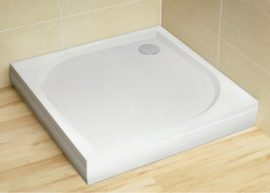 RADAWAY Paros C 80x80 cm szögletes műmárvány zuhanytálca szifonnal, lábbal MBC8080-03-1