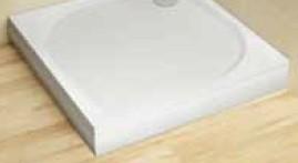 RADAWAY Paros C 100 szögletes előlap műmárvány zuhanytálcához