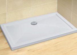RADAWAY Tilos D 100x80 szögletes akril zuhanytálca, szifonnal 4K18030-03