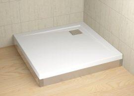 RADAWAY Argos 90 króm előlap, szögletes akril zuhanytálcához 001-510084001
