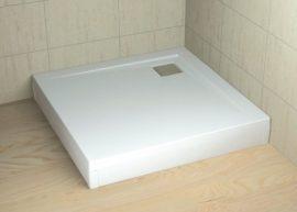 RADAWAY Argos 80 fehér előlap, szögletes akril zuhanytálcához 001-510074004
