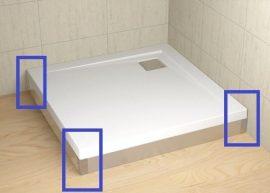 RADAWAY Argos 120 króm előlap, szögletes akril zuhanytálcához 001-510114001