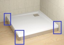 RADAWAY Argos 140 króm előlap, szögletes akril zuhanytálcához 001-510134001