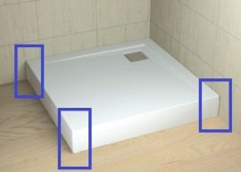 RADAWAY Argos 120 fehér előlap, szögletes akril zuhanytálcához 001-510114004