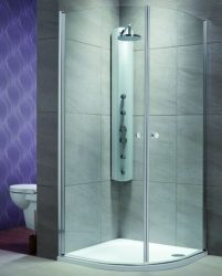 RADAWAY EOS PDD 90x90 íves zuhanykabin / 01 átlátszó üveg / 37603-01-01N
