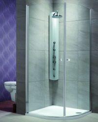 RADAWAY EOS PDD 100x100 íves zuhanykabin / 01 átlátszó üveg / 37623-01-01N