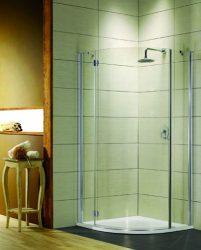 RADAWAY Torrenta PDJ 80 B negyedköríves zuhanykabin 80x80x185 / Balos / 05 grafit üveg / 31710-01-05N