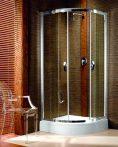 RADAWAY Design Afrodyta A 80 negyedköríves zuhanykabin 80x80x195 / 06 fabrik üveg / 30112-01-06