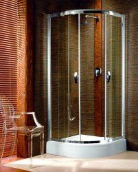 RADAWAY Design Afrodyta A 90 negyedköríves zuhanykabin 90x90x195 / 05 grafit üveg / 30102-01-05