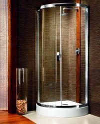 RADAWAY Design Diana negyedköríves zuhanykabin 90x90x195 / 06 fabrik üveg / 30302-01-06