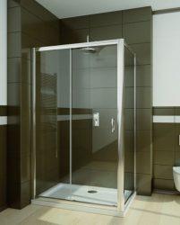 RADAWAY Premium Plus DWJ+S 100 oldalfal 100x190 / 08 barna üveg / 33423-01-08N