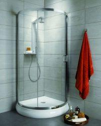 RADAWAY Premium Plus B 90 negyedköríves zuhanykabin 90x90 / 08 barna üveg / 30473-01-08N
