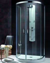 RADAWAY Premium Plus P 100 félköríves zuhanykabin 100x90 / 08 barna üveg / 33300-01-08N