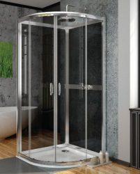 RADAWAY Premium Plus A+2S negyedköríves zuhanykabin variáció 80x80 / A 80 / 02 szatén üveg / 30413-01-02N