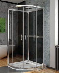 RADAWAY Premium Plus 2S80 negyedköríves zuhanykabin hátfal 90x90 / 05 grafit üveg / 33443-01-05N