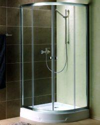 RADAWAY Premium A 1900 negyedköríves zuhanykabin 80x80 / 02 szatén üveg / 30413-01-02