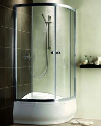 RADAWAY Premium A 1700 negyedköríves zuhanykabin 80x80 / 08 barna üveg / 30411-01-08