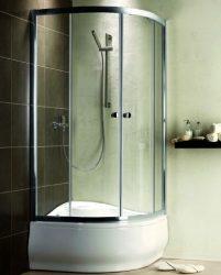RADAWAY Premium A 1700 negyedköríves zuhanykabin 90X90 / 05 grafit üveg / 30401-01-05