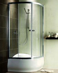 RADAWAY Premium A 1700 negyedköríves zuhanykabin 90X90 / 08 barna üveg / 30401-01-08