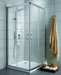 RADAWAY Premium Plus C zuhanykabin 80x80x190 / 08 barna üveg / 30463-01-08N