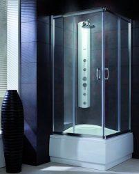 RADAWAY Premium Plus C1700 szögletes zuhanykabin 80x80 / 01 átlátszó üveg / 30461-01-01N