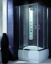 RADAWAY Premium Plus C1700 szögletes zuhanykabin 80x80 / 06 fabrik üveg / 30461-01-06N