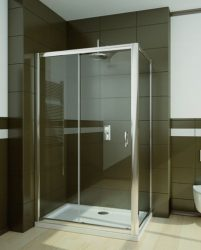 RADAWAY Premium Plus DWJ+S 150 zuhanyajtó 150x190 / 01 átlátszó üveg / 33343-01-01N
