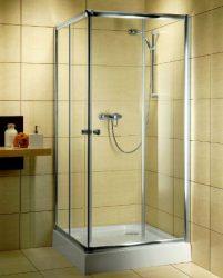 RADAWAY Dolphi Classic C 80 1850 szögletes zuhanykabin 80x80 cm-es, króm keret / fabrik üveg, 30060-01-06