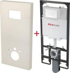 AlcaPLAST  Slimbox = Fedél (Granit) + A1101/1200 Sádromodul Slim - falba építhető / beépíthető / falsík alatti / befalazható WC tartály
