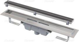 AlcaPLAST  APZ1007 Floor-550 Zuhanyfolyóka peremmel / burkolható rácshoz / függőleges lefolyóval / alaptest