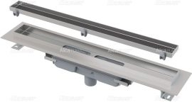 AlcaPLAST  APZ1107-FLOOR-850 Floor Low / Zuhanyfolyóka peremmel / burkolható rácshoz / függőleges lefolyóval