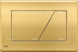AlcaPLAST  M175 Kétöblítéses fehér nyomólap falba építhető tartályhoz, Arany